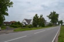 съезд с трассы в направлении участков
